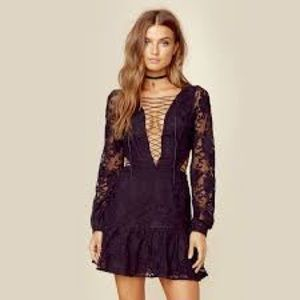 For Love and Lemons Laceup dress